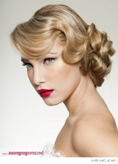 Wedding Updos Inspiredthe 50S & 60S With Recent 50S Hairstyles Updos (View 10 of 15)