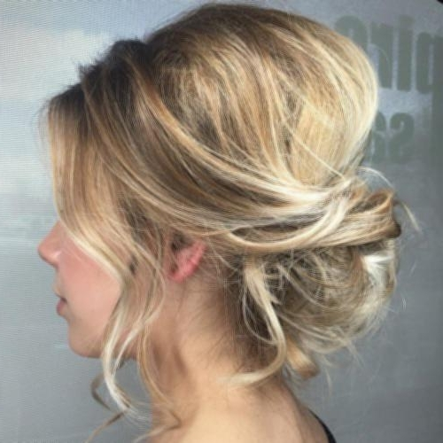 What To Do With Shoulder Length Hair 2 Loose Messy Updo With A Throughout Most Recently Soft Updo Hairstyles For Medium Length Hair (View 15 of 15)