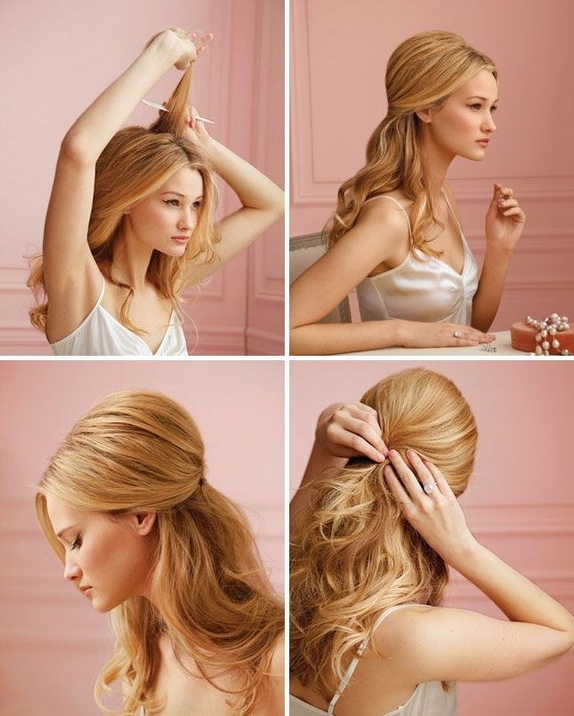 Wonderful Hairstyle Tutorials For Long Hair Within Most Current Diy Half Updo Hairstyles For Long Hair (View 9 of 15)