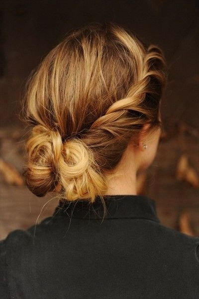 Youthful Timeless Twisted Chignon Updo – Hairstyles Weekly For Most Popular Chignon Updo Hairstyles (View 8 of 15)