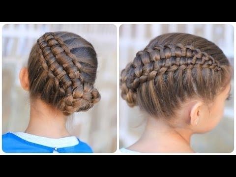 Zipper Braid Updo | Cute Girls Hairstyles – Youtube In Recent Cute Girls Updo Hairstyles (View 15 of 15)