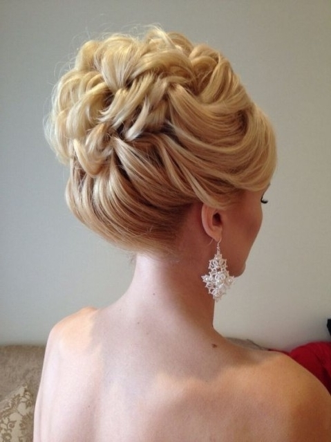 10 Beautiful Updo Hairstyles For Weddings: Classic Bride Hair With Inside Wedding Updos Hairstyles For Medium Length Hair (View 2 of 15)