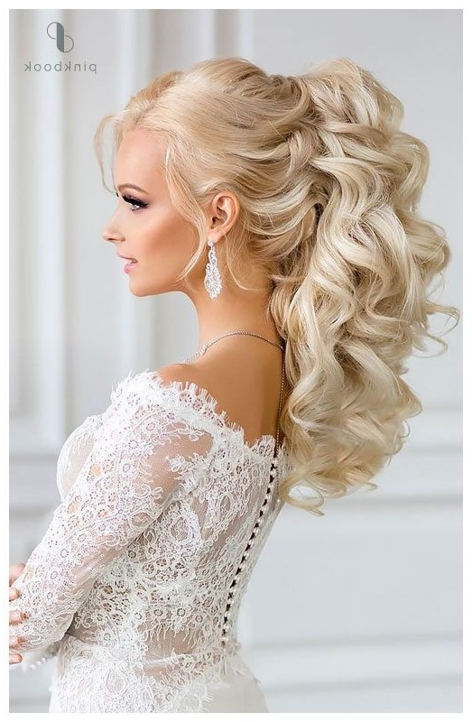10 Beautiful Wedding Hairstyles For Long Hair L Pink Book Weddings Pertaining To Wedding Hairstyles With Ponytail (View 1 of 15)