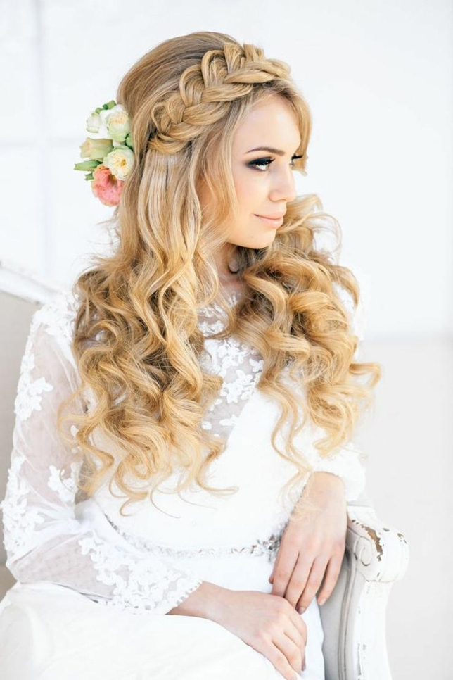 10 Best Wedding Hairstyles For Long Curly Hair In 2018 | Stephanie O Throughout Wedding Hairstyles For Long Curly Hair (View 1 of 15)