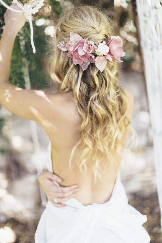 10 Bohemian Wedding Hairstyles / Example Photos Throughout Tied Up Wedding Hairstyles For Long Hair (View 1 of 15)