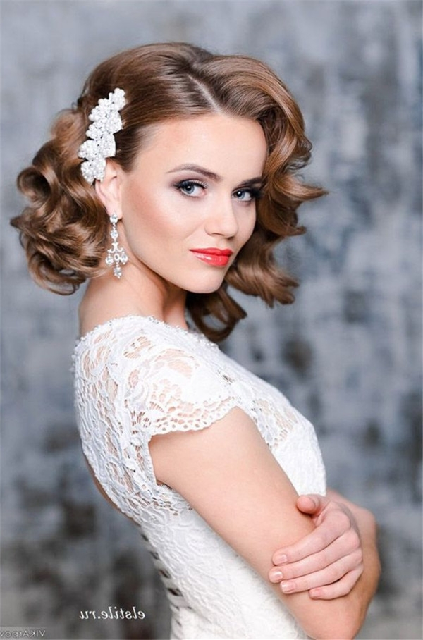 10 Fantastic Wedding Hairstyles For Short Hair Intended For Wedding Hairstyles For Short Hair (View 13 of 15)
