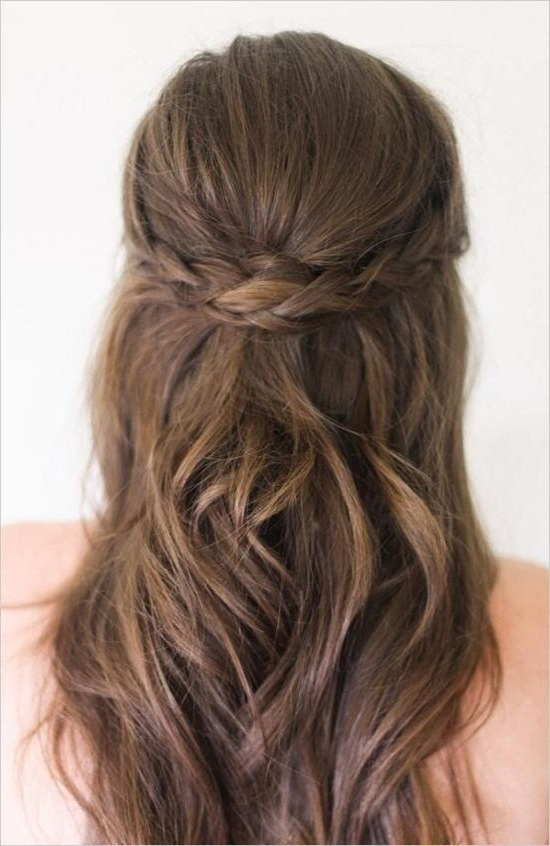 10 Gorgeous Half Up, Half Down Wedding Hairstyles | Pinterest Throughout Wedding Hairstyles Down For Medium Length Hair (View 2 of 15)