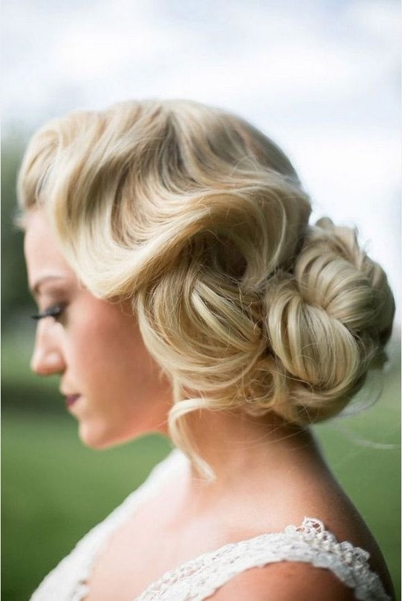10 Gorgeous Wedding Hairstyles You Need To Try! | Weddingsonline Pertaining To Vintage Wave Wedding Hairstyles (View 1 of 15)