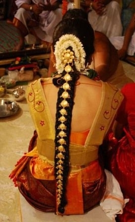 100 Inspiring Easy Hairstyles For Girls To Look Cute | Indian Bridal Inside South Indian Wedding Hairstyles For Long Hair (View 1 of 15)
