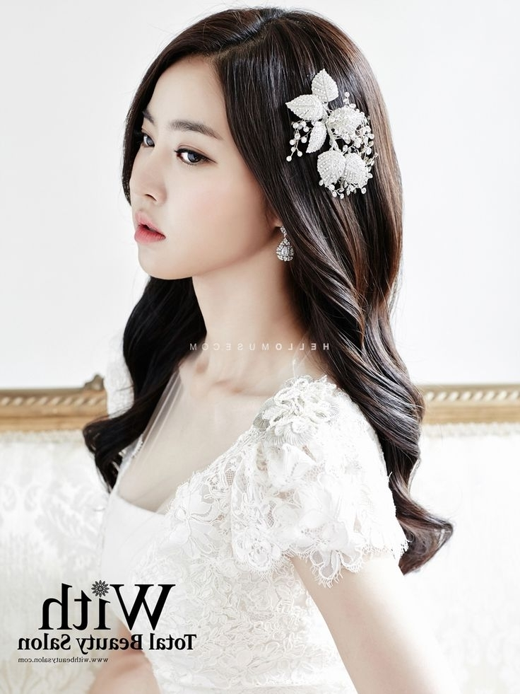105 Best Korean Bridal Looks Images On Pinterest | Bridal Hairdo Throughout Korean Wedding Hairstyles For Long Hair (View 9 of 15)