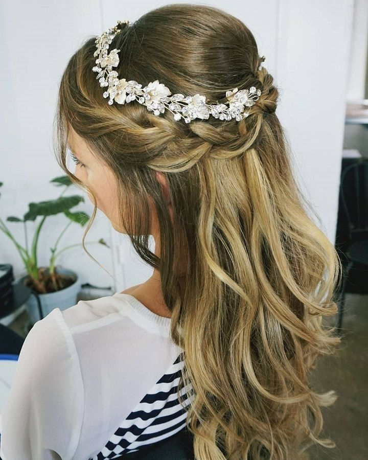 11 Cute & Romantic Hairstyle Ideas For Wedding | Partial Updo Pertaining To Partial Updo Wedding Hairstyles (View 5 of 15)