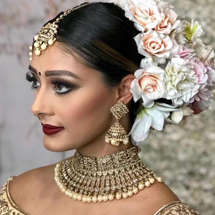 11 Hottest Indian Bridal Hairstyles To Make You Look Like A Diva At Inside Wedding Hairstyles For Indian Bridesmaids (View 13 of 15)