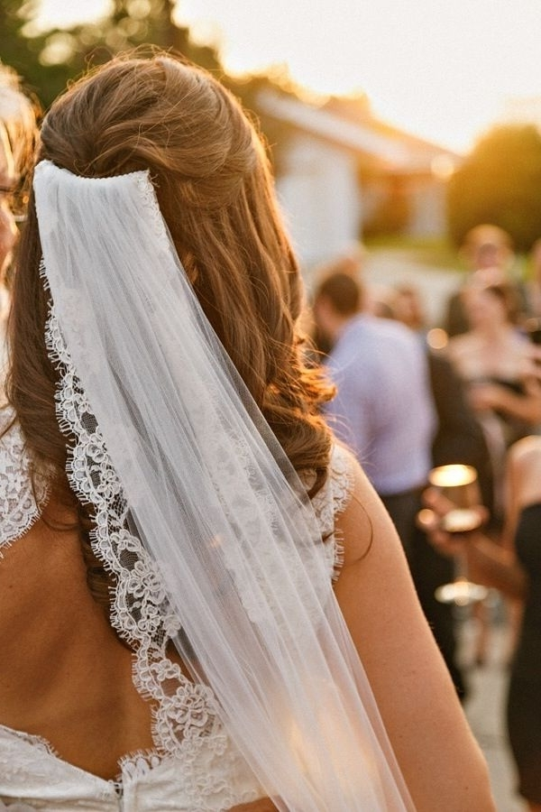 111 Best Bridals Hairdos And Dresses Images On Pinterest | Bridal In Wedding Hairstyles For Long Hair Half Up With Veil (View 15 of 15)