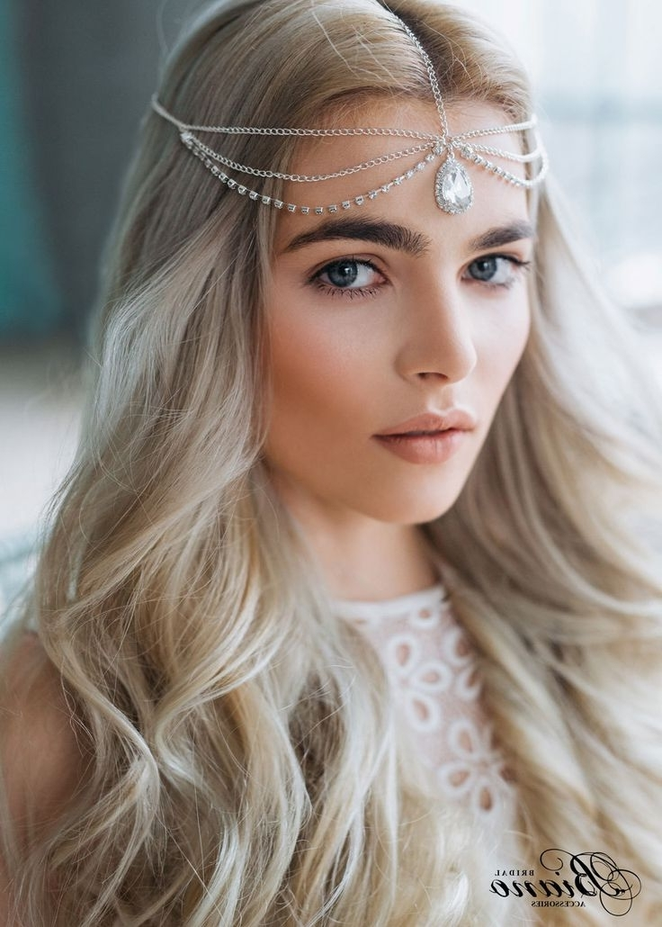 115 Best Wedding Hair Pieces Images On Pinterest | Bridal Hairstyles For Wedding Hairstyles With Jewelry (View 3 of 15)