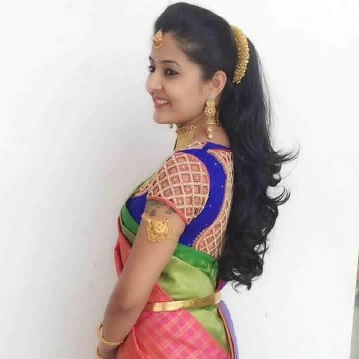 117 Best South Indian Brides Images On Pinterest | Indian Bridal In Wedding Reception Hairstyles For Saree (View 8 of 15)