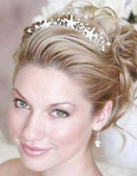 12 Best Potential Hairstyle Images On Pinterest | Bridal Hairstyles For Wedding Hairstyles For Short Hair With Tiara (View 4 of 15)