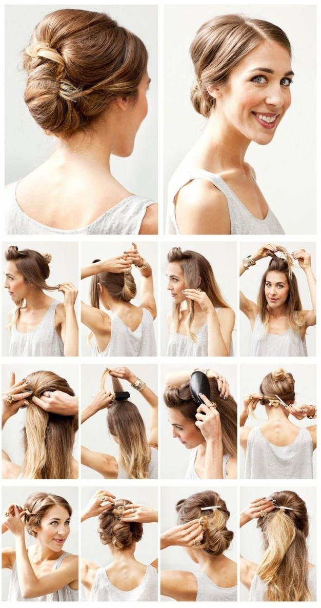 12 Hottest Wedding Hairstyles Tutorials For Brides And Bridesmaids For Easy Wedding Hairstyles For Bridesmaids (View 2 of 15)