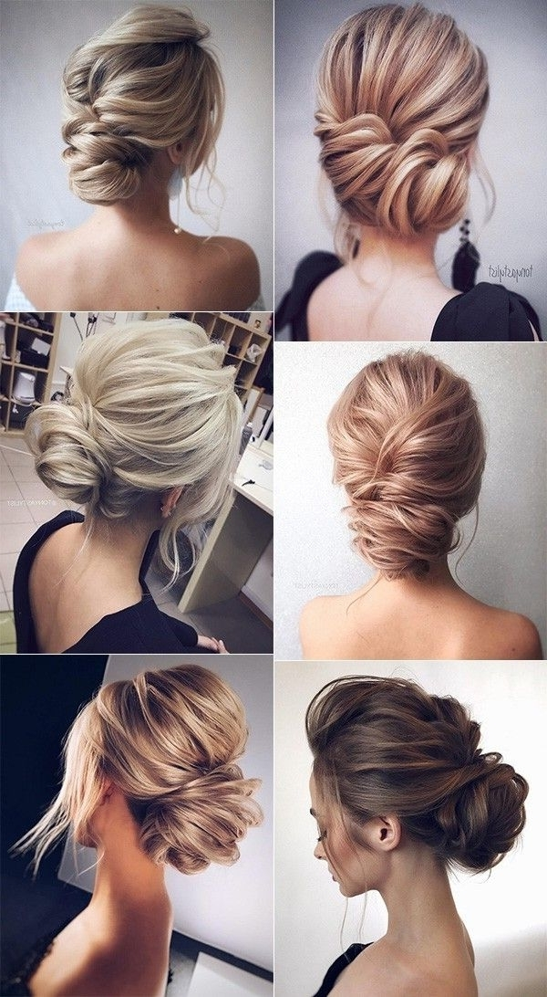 12 So Pretty Updo Wedding Hairstyles From Tonyapushkareva | Elegant Intended For Elegant Updo Wedding Hairstyles (View 4 of 15)