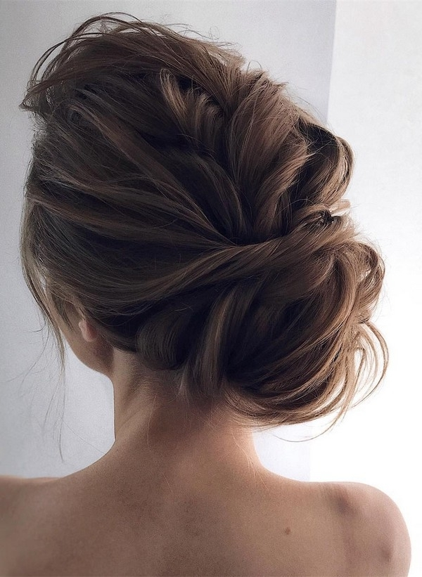 12 So Pretty Updo Wedding Hairstyles From Tonyapushkareva Inside Wedding Hairstyles Up For Long Hair (View 14 of 15)