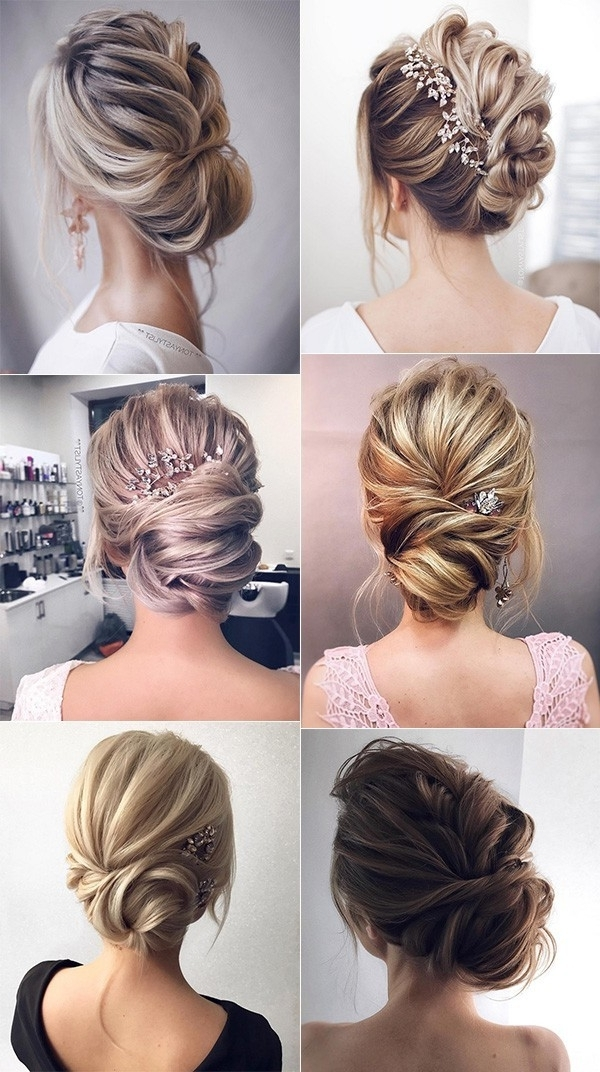 12 So Pretty Updo Wedding Hairstyles From Tonyapushkareva With Regard To Elegant Updo Wedding Hairstyles (View 3 of 15)