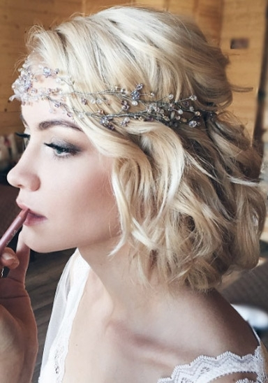 122 Boho Bridal Bob – Style Skinner Pertaining To Bohemian Wedding Hairstyles For Short Hair (View 3 of 15)