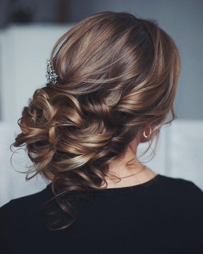 128 Best Wedding Images On Pinterest | Bridal Hairstyles, Wedding Throughout Messy Wedding Hairstyles For Long Hair (View 2 of 15)