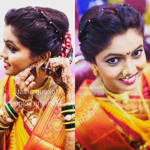 13 Amazing Maharashtrian Bridal Hairstyles To Get Inspired – 2018 Pertaining To Maharashtrian Wedding Hairstyles For Long Hair (View 10 of 15)
