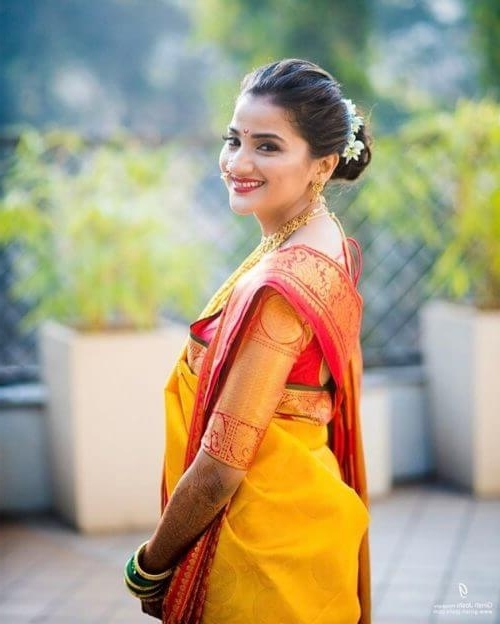 13 Amazing Maharashtrian Bridal Hairstyles To Get Inspired Within Maharashtrian Wedding Hairstyles For Long Hair (View 6 of 15)