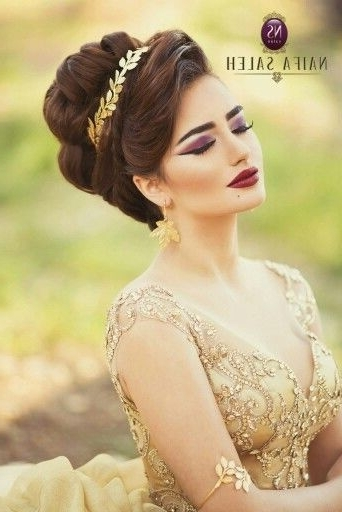 13 Best ?????? ??? Images On Pinterest | Hair Dos, Bridal Hairstyles Within Arabic Wedding Hairstyles (View 1 of 15)