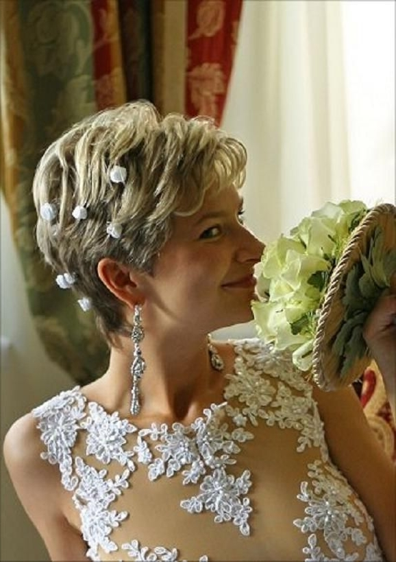 13 Best Wedding Hairstyles For Short Hair Images On Pinterest Within Wedding Hairstyles For Older Bride (View 10 of 15)
