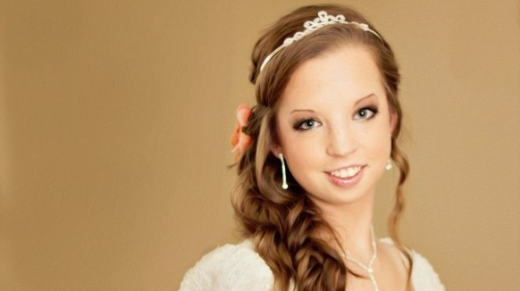13 Easy Wedding Hairstyles For Little Girls | Hair Style Lab Pertaining To Wedding Hairstyles For Young Brides (View 2 of 15)