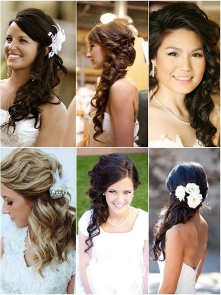 136 Exquisite Wedding Hairstyles For Brides & Bridesmaids | Hairstylo Throughout Down To The Side Wedding Hairstyles (View 1 of 15)