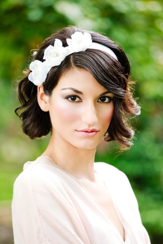 14 Best Wedding Hair Style For Short Hair Images On Pinterest For Wedding Bob Hairstyles For Short Hair (View 3 of 15)