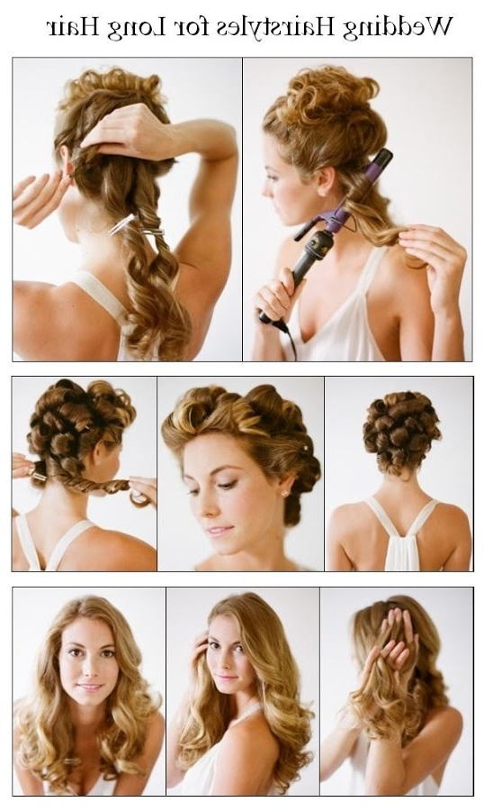 14 Wonderful Hairstyles With Tutorials For Long Hair – Pretty Designs Inside Diy Wedding Hairstyles For Long Hair (View 5 of 15)