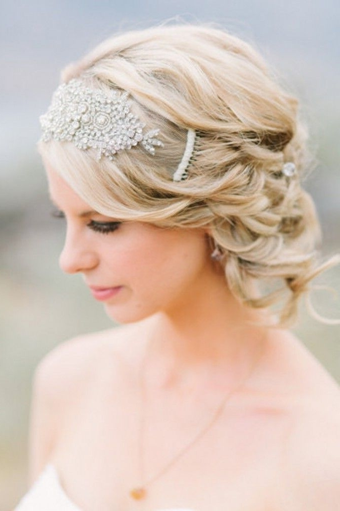 141 Best Hair Images On Pinterest Bridal Hairstyles Hair Dos And In Wedding Hairstyles For Short Hair With Fringe (View 12 of 15)