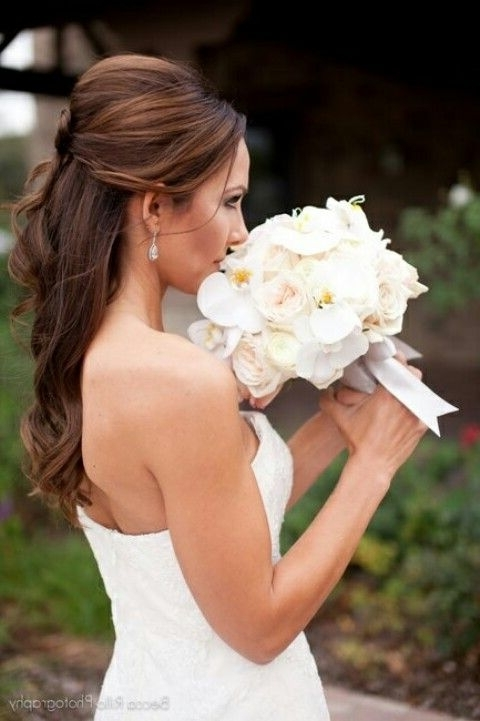 146 Best The Wedding Of My Dreams!! <3 Images On Pinterest | Wedding Pertaining To Wedding Hairstyles For Long Hair Without Veil (View 2 of 15)