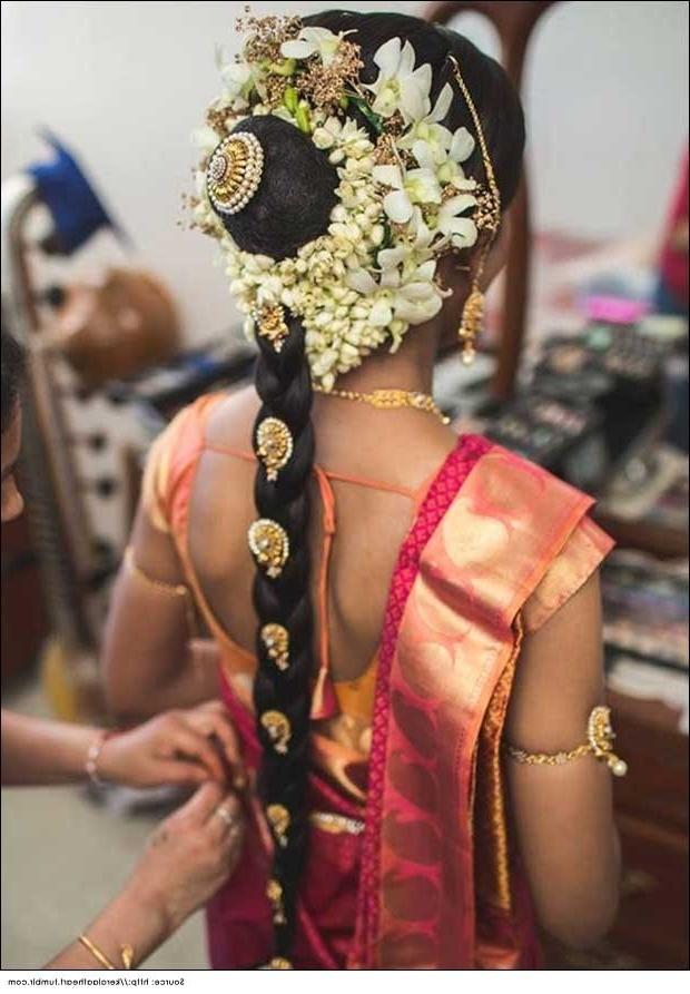 15 Amazing Wedding Hairstyles For Long Hair | Bridal Hairstyles In South Indian Wedding Hairstyles For Medium Length Hair (View 6 of 15)