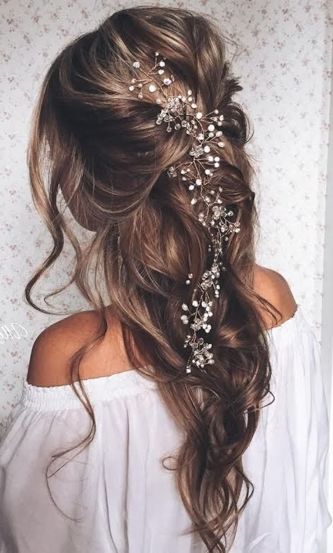 15 Beautiful Wedding Hair Ideas | Pinterest | Headpieces, Flower And With Long Wedding Hairstyles With Flowers In Hair (View 1 of 15)