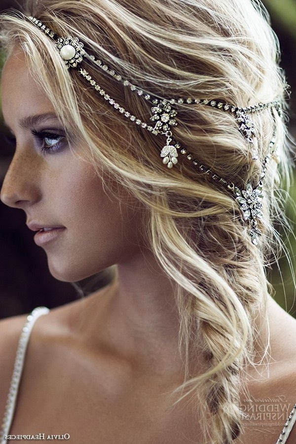 Featured Photo of Wedding Hairstyles With Jewelry