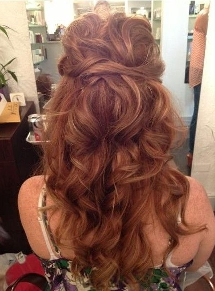 15 Best Long Wavy Hairstyles | Long Curly Hairstyles, Long Curly Within Tied Up Wedding Hairstyles (View 9 of 15)