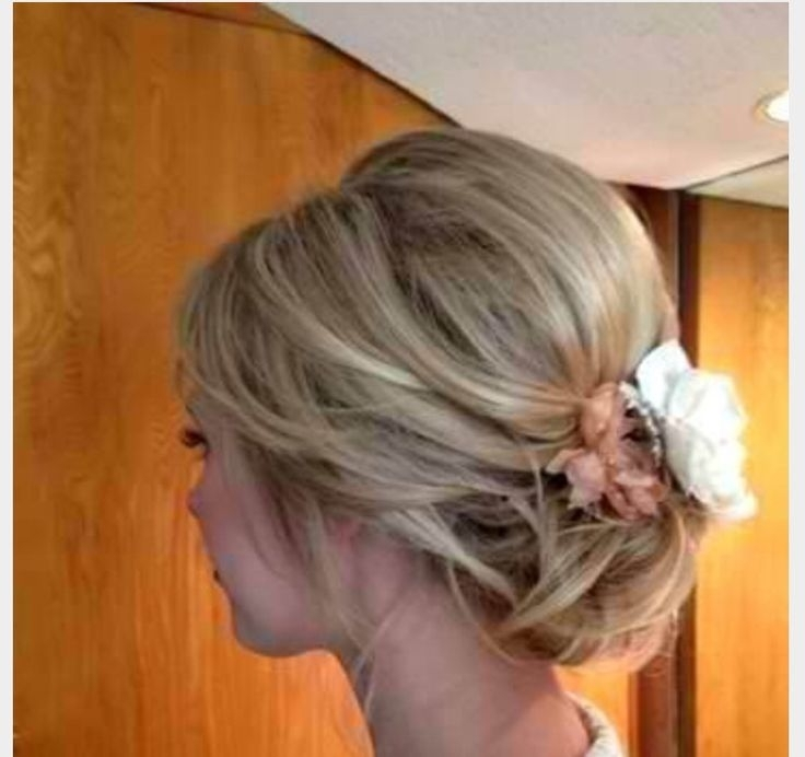 15 Best Mid Length Hair Updo's Images On Pinterest | Hair Dos With Wedding Guest Hairstyles For Medium Length Hair With Fascinator (View 1 of 15)