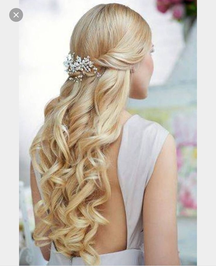 15 Best Partial Updo's Images On Pinterest | Bridal Hairstyles, Hair In Partial Updo Wedding Hairstyles (View 14 of 15)
