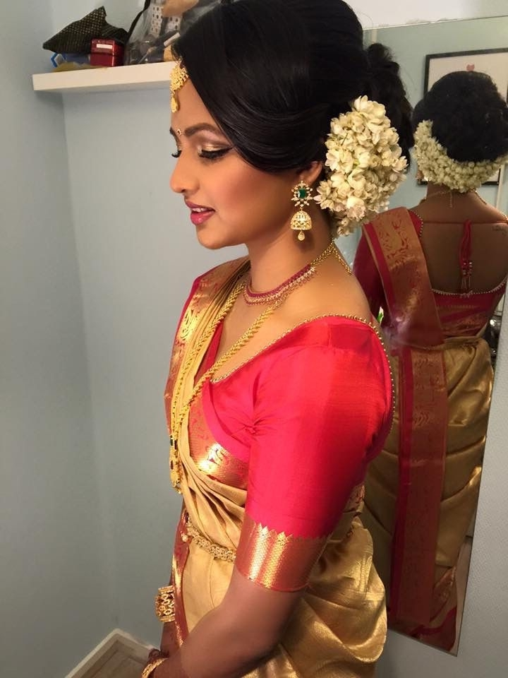 15 Best South Indian Bridal Hairstyles | Bride Destination Within Hindu Wedding Hairstyles For Long Hair (View 7 of 15)