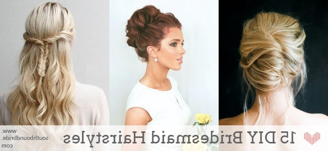 15 Diy Bridesmaid Wedding Hair Tutorials | Southbound Bride With Maid Of Honor Wedding Hairstyles (View 7 of 15)