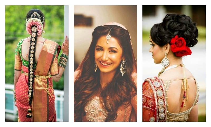 15 Indian Wedding Hairstyles For A Traditional Look Inside Traditional Wedding Hairstyles (View 2 of 15)