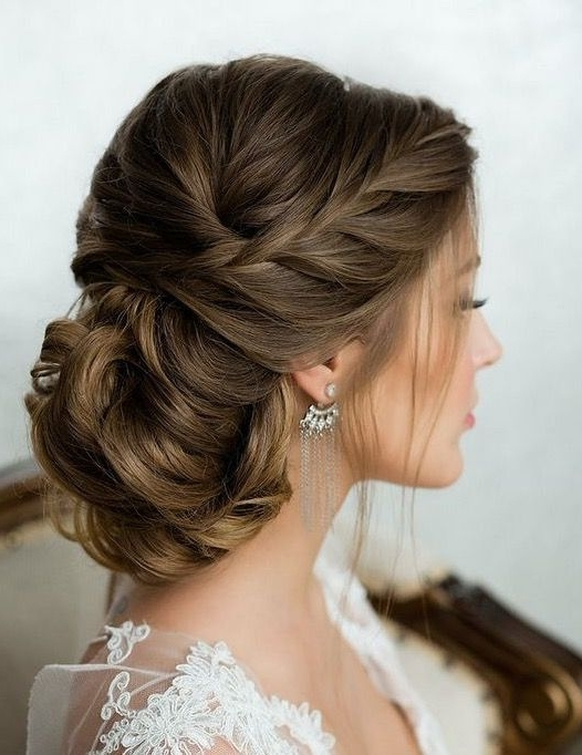 15 Unique Low Bun Wedding Hairstyles 2018 | Express Yourself Within Wedding Hairstyles For Long Low Bun Hair (View 7 of 15)