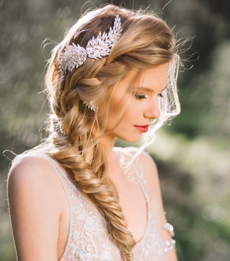 15 Wedding Hairstyles For Long Hair That Steal The Show Within Wedding Hairstyles With Hair Accessories (View 12 of 15)
