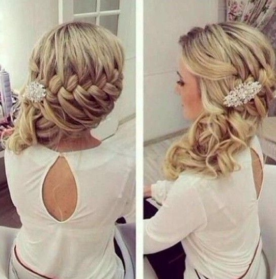 1518 Best Hair Images On Pinterest | Hairstyle Ideas, Wedding Hair For Wedding Updos For Long Hair Bridesmaids (View 5 of 15)