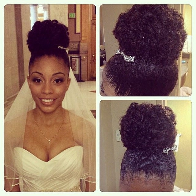 1581 Best Hair!!! Images On Pinterest | Natural Updo, Natural Hair In Wedding Hairstyles Without Heat (View 10 of 15)