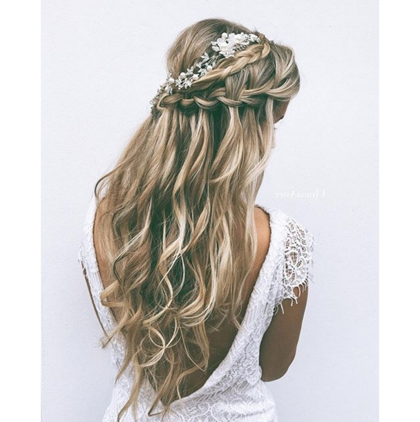 16 Beautiful Boho Wedding Hairstyles | Pinterest | Aster, Weddings Pertaining To Wedding Hairstyles For Long Boho Hair (View 2 of 15)